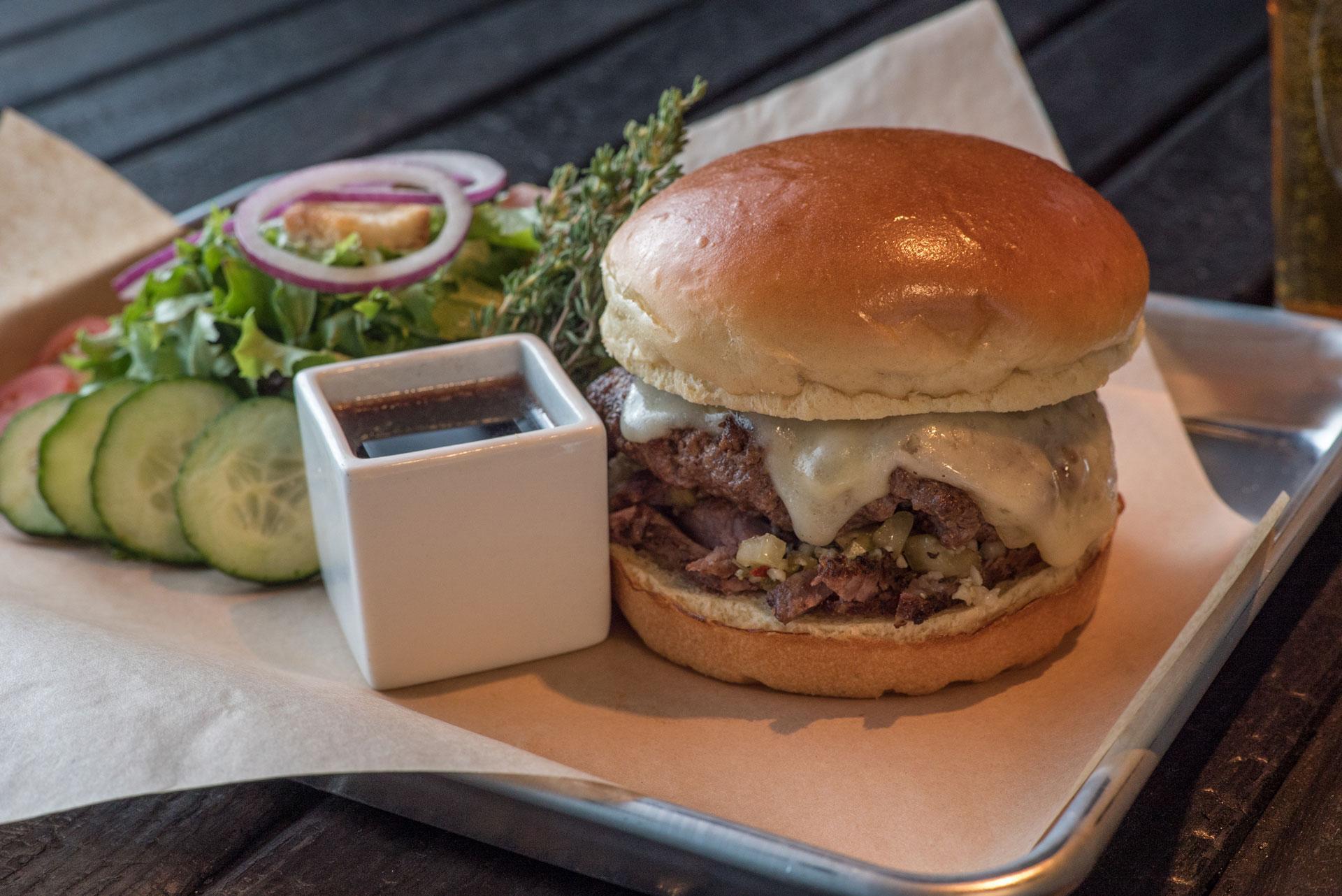 Charred - Hot Italian Beef Wagyu Burger