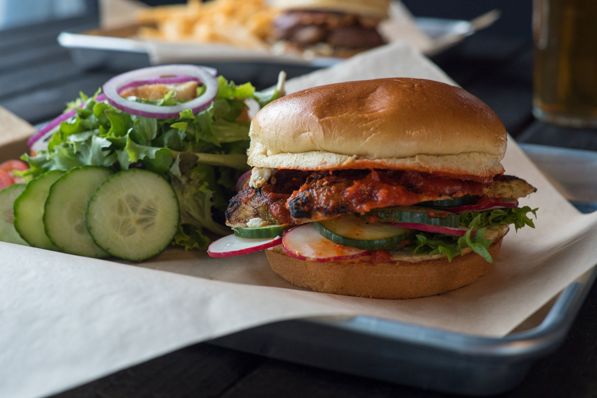 Charred - The Rooster Sandwich